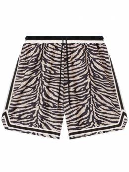 John Elliott zebra-print track shorts C033M23757A