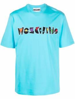 Moschino футболка с вышитым логотипом A07162040