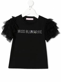 Miss Blumarine футболка с кристаллами MBL3843