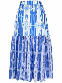 Jessie Western юбка Rara с геометричным принтом RARASKIRTBLUEBLANKET