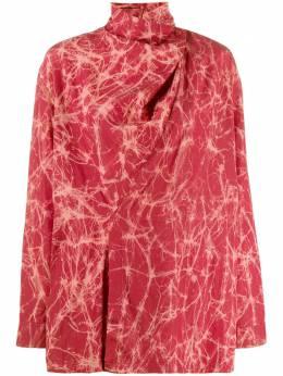 Issey Miyake Pre-Owned блузка со сборками на воротнике 1980-х годов MIY266
