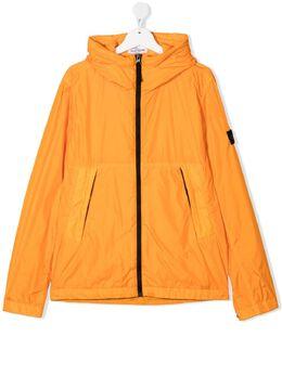 Stone Island Junior TEEN Crinkle Reps water-resistant hood jacket 741640233