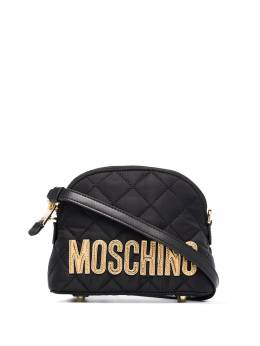 Moschino logo-embroidered quilted shoulder bag 74048201