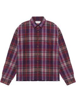 John Elliott клетчатая рубашка на пуговицах E047I46731A