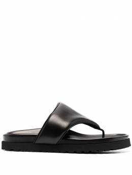 Gia Couture padded thong-strap leather sandals PERNI12