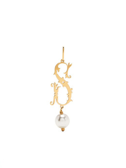 Simone Rocha pearl-embellished S pendant PND0905GOLDPEARLS
