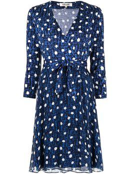 Dvf Diane Von Furstenberg платье-трапеция в горох DW4O030