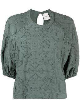 Alysi фактурная блузка с пышными рукавами 101408p1031