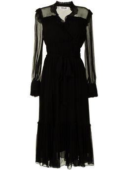 Dvf Diane Von Furstenberg платье миди с прозрачными рукавами DL4O005