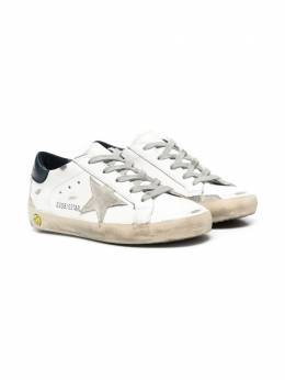 Golden Goose Kids Superstar distressed sneakers GYF00102F000414