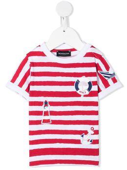 Monnalisa футболка в полоску с принтом 2876107052
