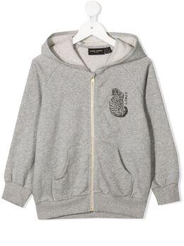 Mini Rodini wild cat-print hoodie 2122018794