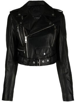 Manokhi укороченная байкерская куртка SS21MANO119A364BIKERSHORTBLACK
