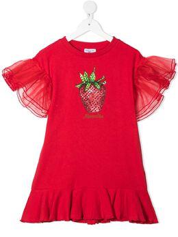 Monnalisa платье с графичным принтом 197925PC7050