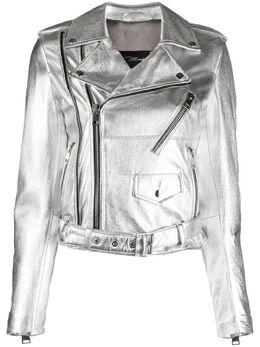 Manokhi байкерская куртка с эффектом металлик SS21MANO143A319BIKERZIPPEDSILVER