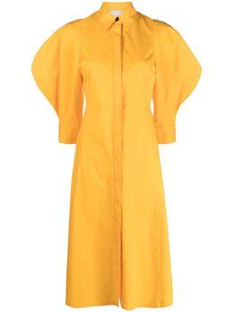 Erika Cavallini платье-рубашка с пышными рукавами P1SJ15