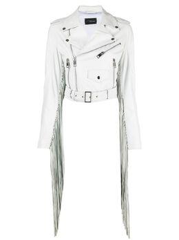 Manokhi куртка с бахромой SS21MANO130A369FRINGESWHITE