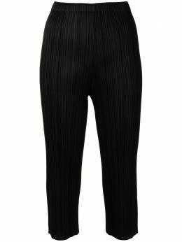 Pleats Please Issey Miyake укороченные брюки со складками PP16JF110