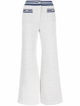 Alessandra Rich укороченные твидовые брюки в полоску FAB2433