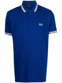 Boss by Hugo Boss рубашка поло с вышитым логотипом 50398302