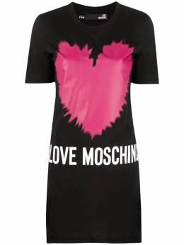 Love Moschino logo-print T-shirt dress W5A0221M3876