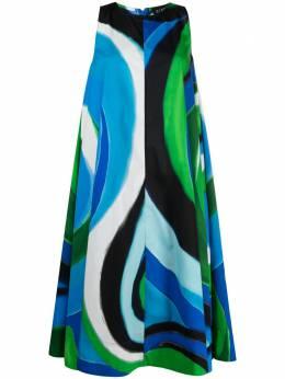 Gianluca Capannolo платье с абстрактным принтом 21EA06200