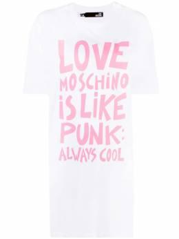 Love Moschino graphic-print T-shirt dress W592332M3876