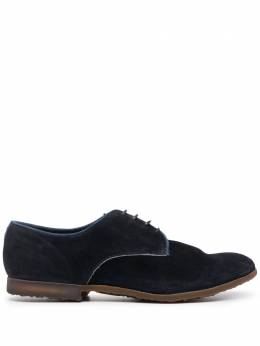 Premiata panelled suede derby shoes 31819