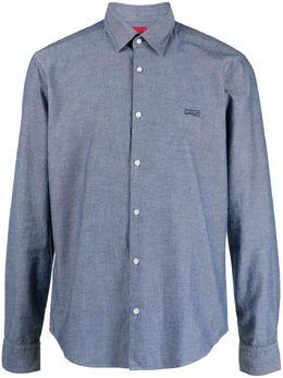 Boss by Hugo Boss рубашка с вышитым логотипом 50450223