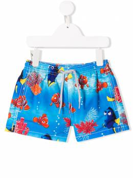 Mc2 Saint Barth Kids плавки-шорты с принтом JEAN
