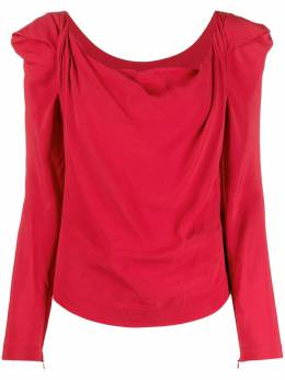 Vivienne Westwood Elizabeth draped long-sleeved blouse 1502004311516