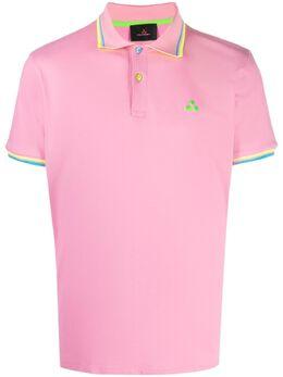 Peuterey рубашка поло с вышивкой и окантовкой в полоску PEU393799011991