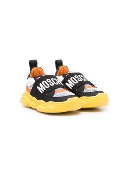 Moschino Kids кроссовки с логотипом 67400