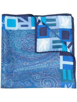Etro logo-print edge scarf 1T1995086
