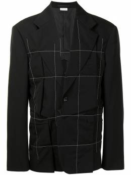 Comme Des Garcons Homme Plus check-print single-breasted blazer PGJ064051