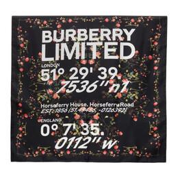 Burberry Black Silk Montage Print Scarf 8037642