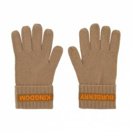 Burberry Beige Cashmere Logo and Kingdom Gloves 8025725