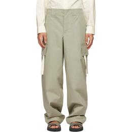 Jacquemus Khaki Le Pantalon Alzu Cargo Pants 215PA04-215 101530