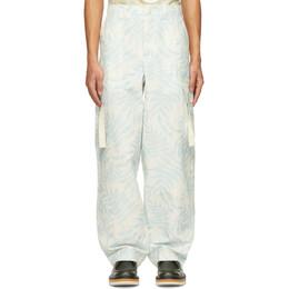 Jacquemus Blue Le Pantalon Alzu Cargo Pants 215PA04-215 109143