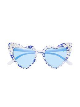 Monnalisa солнцезащитные очки в оправе в форме сердца 9970347082