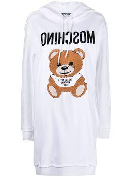 Moschino платье-худи с нашивкой Teddy Bear V04310427