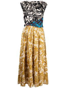 Tela платье макси с графичным принтом в технике пэчворк 010018010168