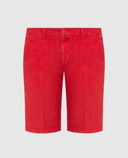 Красные шорты из льна Kiton 2300006659386