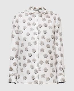 Белая блуза из шелка Max Mara 2300006671456