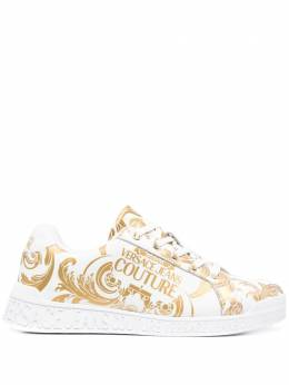 Versace Jeans Couture Baroque-print low-top sneakers E0VWASP771973