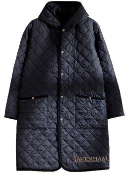 Mastermind Japan стеганое пальто из коллаборации с Lavenham LONGHOODEDJACKET