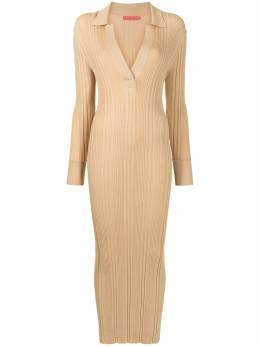 Manning Cartell приталенное платье в рубчик 51972BRNL