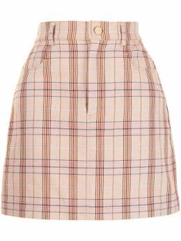 Manning Cartell юбка А-силуэта в клетку 40567PNKM