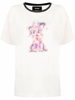 We11Done футболка с графичным принтом WDTT021510UBKTOP