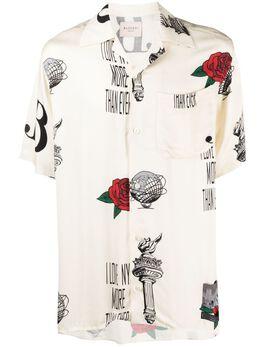 Buscemi рубашка с короткими рукавами и принтом BMS21247